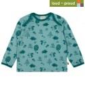 loud + proud - Bio Kinder Langarmshirt mit Waldtiere-Allover, oregano
