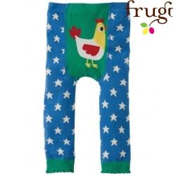 frugi - Baby Leggings mit Sternen und Huhn