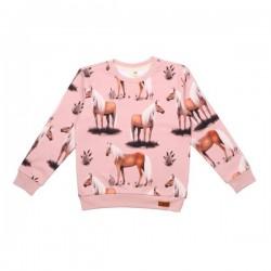 Walkiddy - Bio Kinder Sweatshirt mit Pferde-Allover