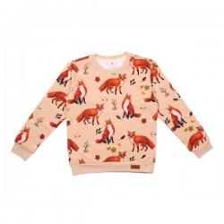 Walkiddy - Bio Kinder Sweatshirt mit Fuchs-Allover