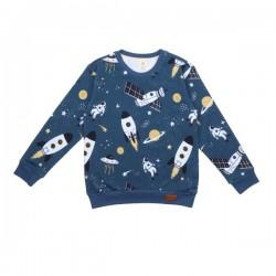 Walkiddy - Bio Kinder Sweatshirt mit Raketen-Allover