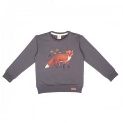 Walkiddy - Bio Kinder Sweatshirt mit Fuchs-Druck