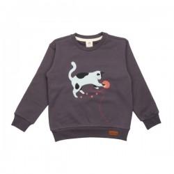 Walkiddy - Bio Kinder Sweatshirt mit Katzen-Druck