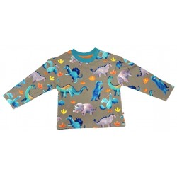 Curious Stories - Bio Kinder Sweatshirt mit Dino-Allover