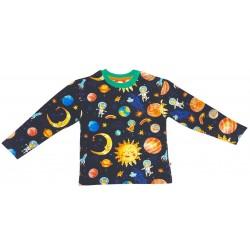 Curious Stories - Bio Kinder Sweatshirt mit Weltraum-Allover