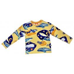 Curious Stories - Bio Kinder Sweatshirt mit Wal-Allover