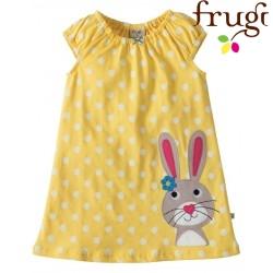 """frugi - Bio Baby Kleid """"Little Lola"""" mit Hasen-Motiv und Punkten"""