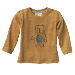 People Wear Organic - Bio Baby Langarmshirt mit Bären-Druck