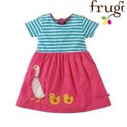 """frugi - Bio Baby Kleid """"Little Zennor"""" mit Enten-Motiv"""
