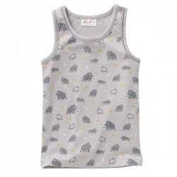 People Wear Organic - Bio Kinder Unterhemd mit Mammut-Allover