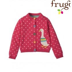 frugi - Bio Baby Strickjacke mit Ente und Punkten