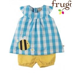 frugi - Bio Baby Set Bluse + Shorts mit Biene