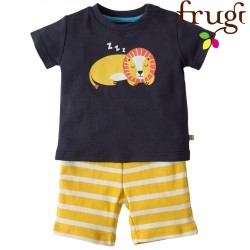 "frugi - Bio Baby Set ""Little Perran"" T-Shirt + Shorts mit Löwe"
