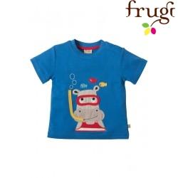 """frugi - Bio Baby T-Shirt """"Little Creature"""" mit Hippo-Motiv"""