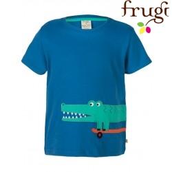 "frugi - Bio Kinder T-Shirt ""James"" mit Krokodil-Motiv"