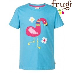 "frugi - Bio Kinder T-Shirt ""Gwenver"" mit Flamingo-Motiv"