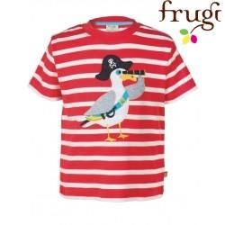 """frugi - Bio Kinder T-Shirt """"Ollie"""" mit Seemöwen-Motiv und Streifen"""