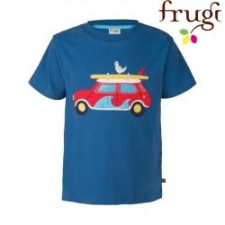 """frugi - Bio Kinder T-Shirt """"Stanley"""" mit Auto-Motiv"""