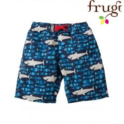 frugi - Bio Kinder Badeshorts mit Hai-Motiv