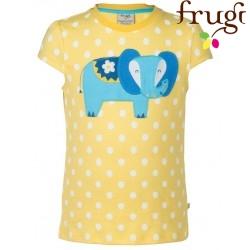 """frugi - Bio Kinder T-Shirt """"Poldhu"""" mit Elefanten-Motiv und Punkten"""