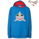 "frugi - Bio Kinder Sweatshirt ""Hedgerow"" mit Hai-Motiv"