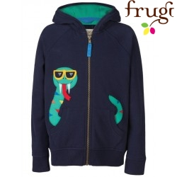 Frugi - Kinder Sweatjacke mit Schlangen-Applikation
