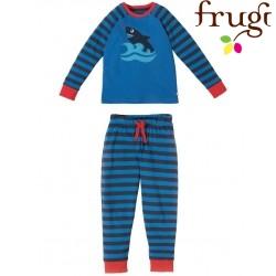 """frugi - Bio Kinder Schlafanzug """"Ralph"""" mit Hai-Motiv"""