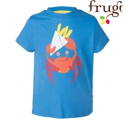 "frugi - Bio Kinder T-Shirt ""Atlantic"" mit Krabben-Motiv"