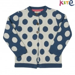kite kids - Bio Kinder Strickjacke mit Punkten