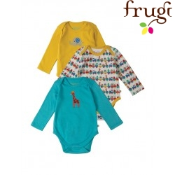 frugi - Bio Baby Body 3er-Pack