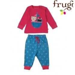 "frugi - Bio Baby Schlafanzug ""Little Long John"" mit Eule"