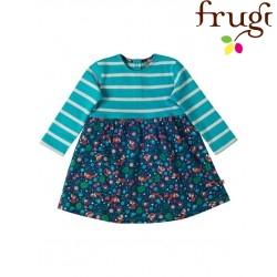 """frugi - Bio Baby Kleid """"Little Bea"""" mit Füchsen und Streifen"""