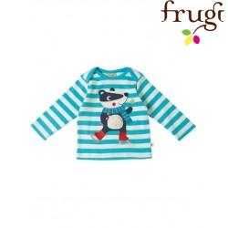 """frugi - Bio Baby Langarmshirt """"Bobby"""" mit Dachs-Motiv"""