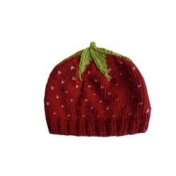 "Brommerle -Bio Baby Strickmütze ""Erdbeere"""