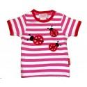 Toby tiger - Bio Baby T-Shirt mit Marienkäfer-Motiv und Punkten