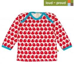 loud + proud - Bio Baby Langarmshirt mit Vogel-Druck