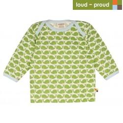 loud + proud - Bio Baby Langarmshirt mit Wal-Druck