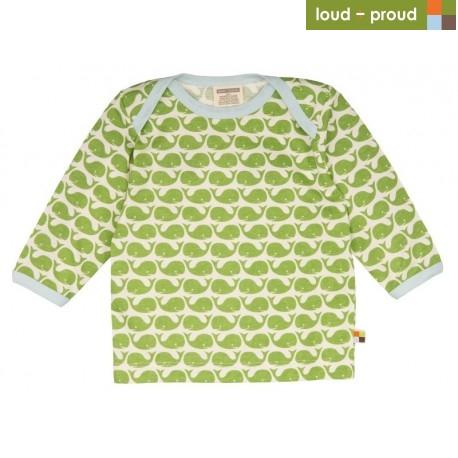 013d29f7388d loud + proud - Bio Baby Langarmshirt mit Wal-Druck - Naturzwerge ...
