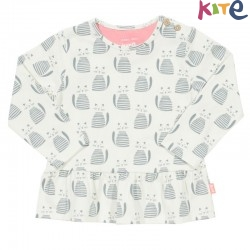 kite kids - Bio Baby Langarmshirt mit Katzen-Motiv