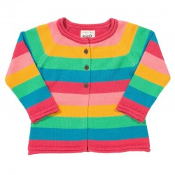 kite kids - Bio Kinder Strickjacke Regenbogen