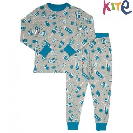 ff6f13f4f6 kite kids - Bio Kinder Schlafanzug Raumfahrt - Naturzwerge Kindermode