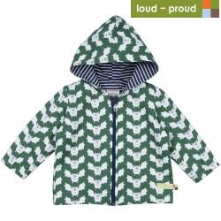 loud + proud - Bio Kinder Jacke mit Fledermaus-Druck