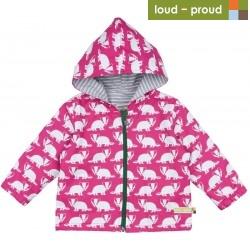 loud + proud - Bio Kinder Jacke mit Dachs-Druck, wasserabweisend