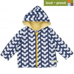 loud + proud - Bio Kinder Jacke mit Fledermaus-Druck, wasserabweisend