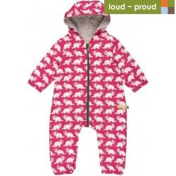 loud + proud - Bio Baby Overall mit Dachs-Druck, wasserabweisend