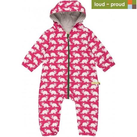 e5bb21d98c20 Sale! loud + proud - Bio Baby Overall mit Dachs-Druck, wasserabweisend