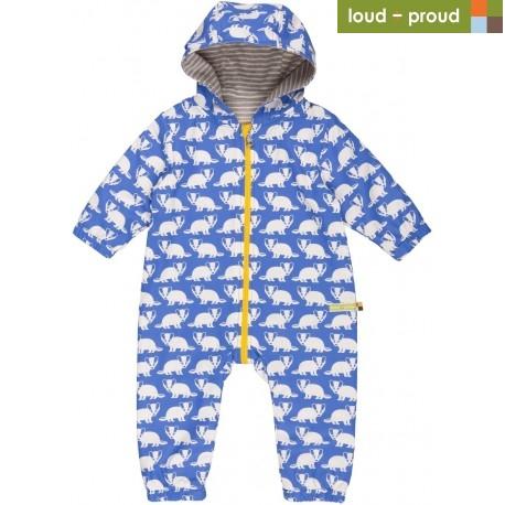 d8c844fcc25a38 Sale! loud + proud - Bio Baby Overall mit Dachs-Druck