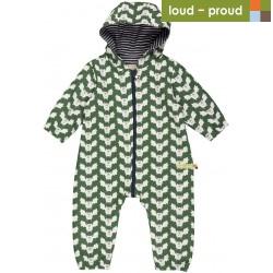 loud + proud - Bio Baby Overall mit Fledermaus-Druck, wasserabweisend