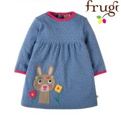 """frugi - Bio Baby Jersey Kleid """"Dolcie"""" mit Hasen-Motiv und Punkten"""