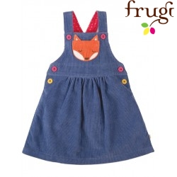 "frugi - Bio Baby Cord Kleid ""Dolcie"" mit Fuchs-Motiv"
